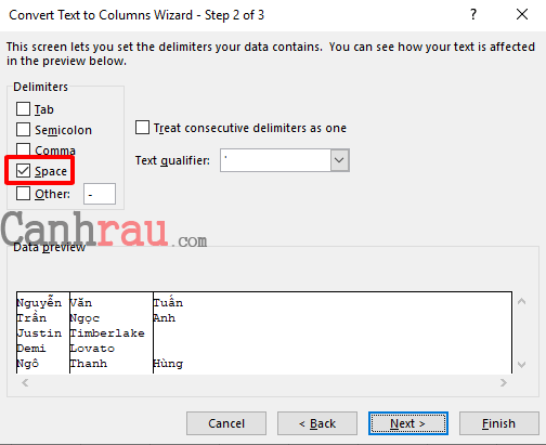 Cách tách họ và tên trong Excel nhanh nhất hình 3