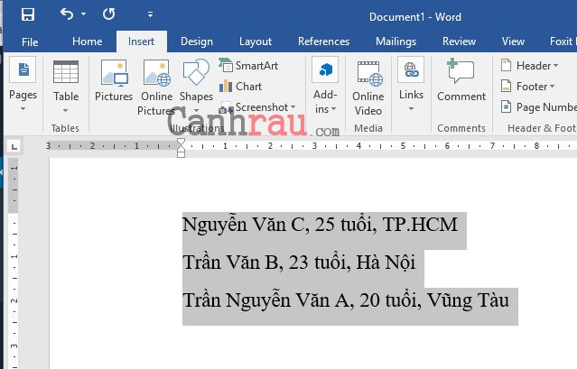 Cách tạo bảng và kẻ bảng trong Word hình 10