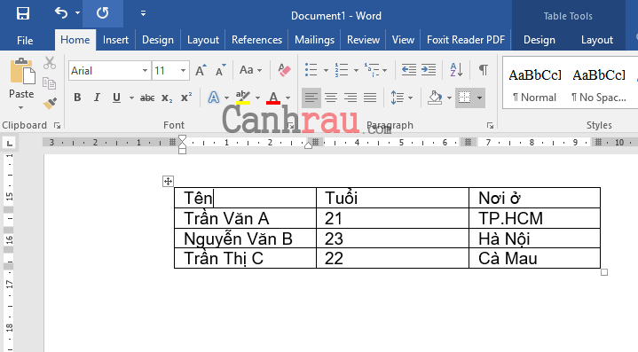 Cách tạo bảng và kẻ bảng trong Word hình 14