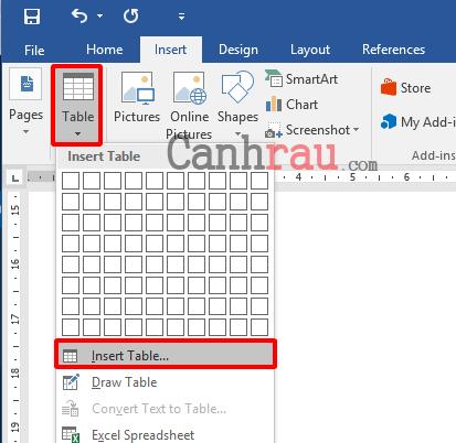 Cách tạo bảng và kẻ bảng trong Word hình 4