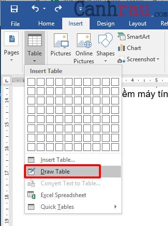 Cách tạo bảng và kẻ bảng trong Word hình 6