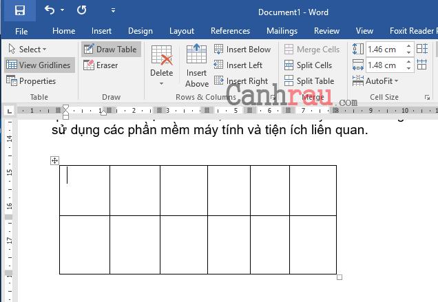 Cách tạo bảng và kẻ bảng trong Word hình 7