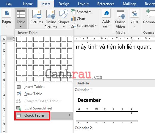 Cách tạo bảng và kẻ bảng trong Word hình 9
