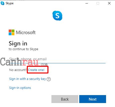 Cách tạo tài khoản Skype mới nhất bằng tiếng việt hình 3