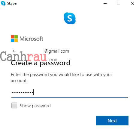 Cách tạo tài khoản Skype mới nhất bằng tiếng việt hình 4