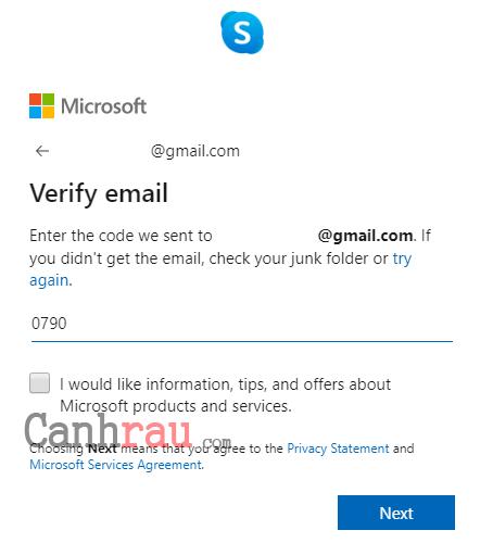 Cách tạo tài khoản Skype mới nhất bằng tiếng việt hình 5
