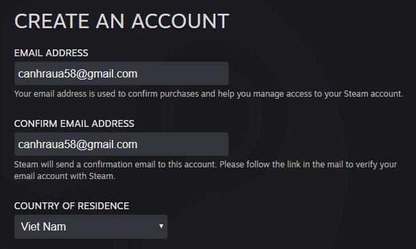 Cách tạo tài khoản Steam mới nhất hình 3