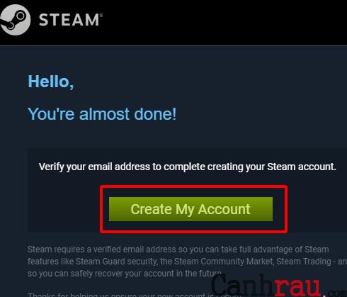 Cách tạo tài khoản Steam mới nhất hình 5