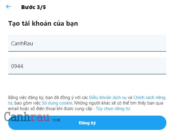 Cách tạo tài khoản Twitter hình 3