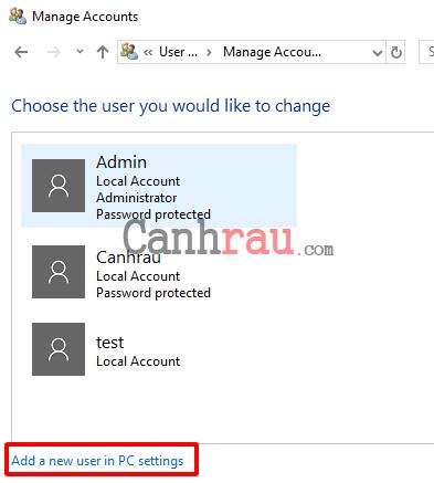 Cách tạo thêm user mới trên Windows 10 hình 11