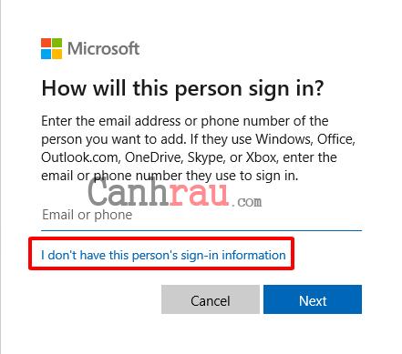 Cách tạo thêm user mới trên Windows 10 hình 4
