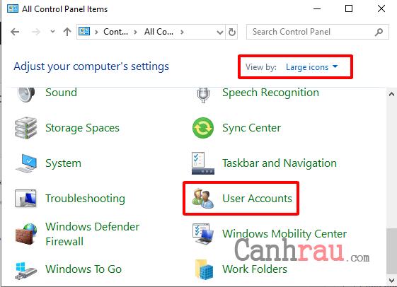 Cách tắt User Account Control trên Windows 10 hình 2