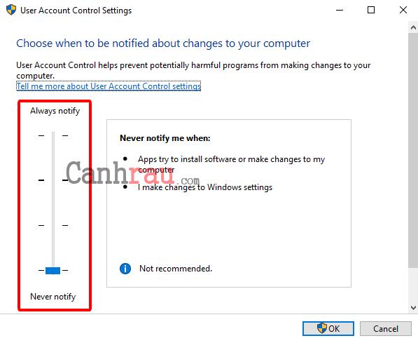 Cách tắt User Account Control trên Windows 10 hình 4