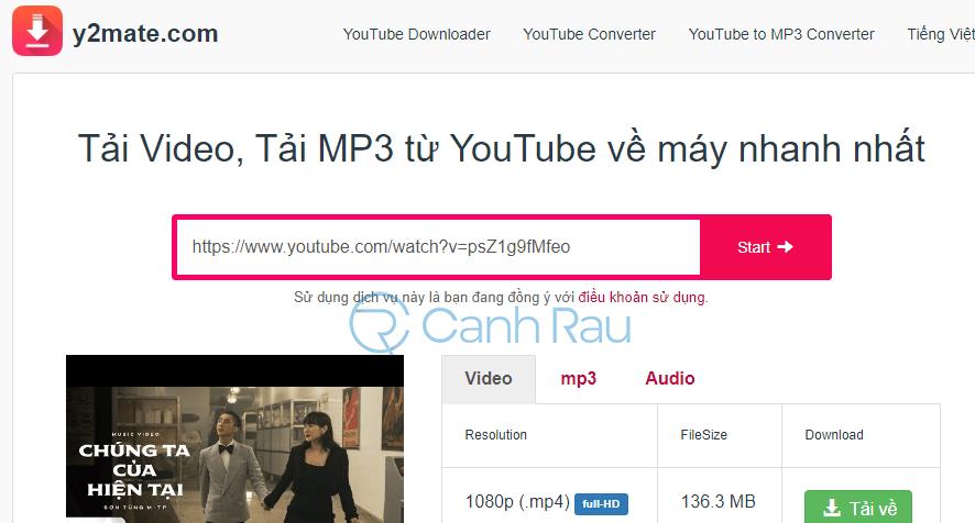 Chuyển Youtube sang MP3 hình 3
