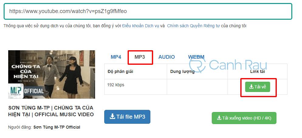 Chuyển Youtube sang MP3 hình 7