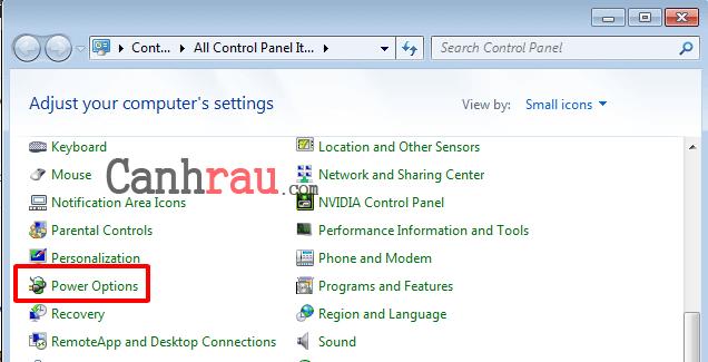 Hướng dẫn chỉnh độ sáng màn hình máy tính laptop Windows 7 hình 3
