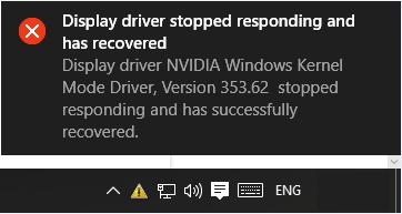 hướng dẫn sửa lỗi Display driver stopped responding and has recovered hình 1