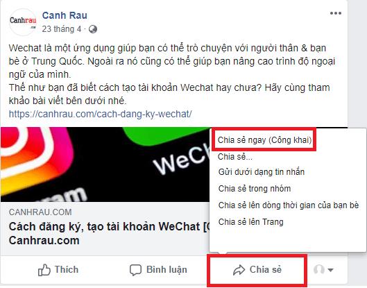 Cách chia sẻ bài viết trên Facebook hình 1