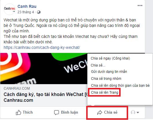 Cách chia sẻ bài viết trên Facebook hình 10