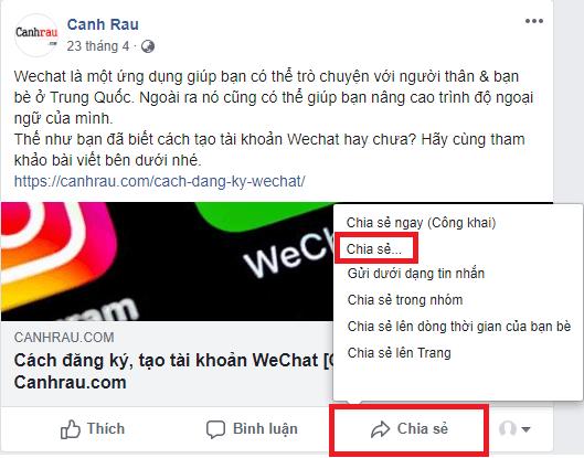 Cách chia sẻ bài viết trên Facebook hình 2