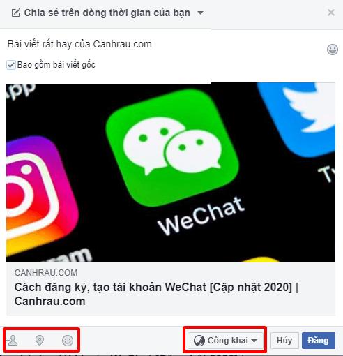 Cách chia sẻ bài viết trên Facebook hình 3
