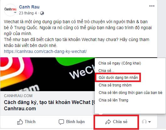 Cách chia sẻ bài viết trên Facebook hình 4