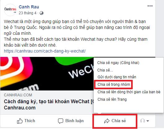 Cách chia sẻ bài viết trên Facebook hình 6