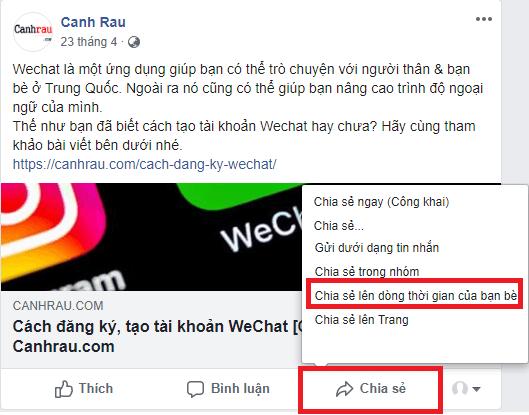 Cách chia sẻ bài viết trên Facebook hình 8