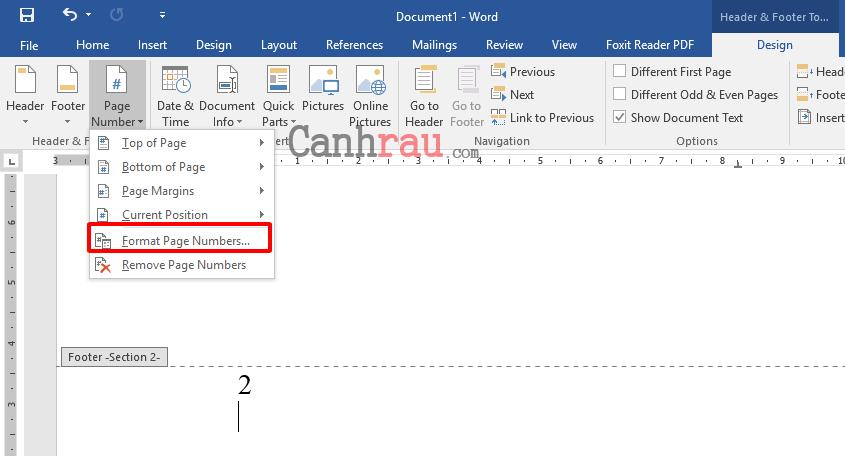 Cách đánh số trang trong Word 2016 hình 13