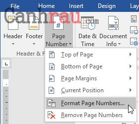 Cách đánh số trang trong Word 2016 hình 19