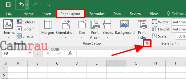 Cách đánh số trang trong Excel hình 1