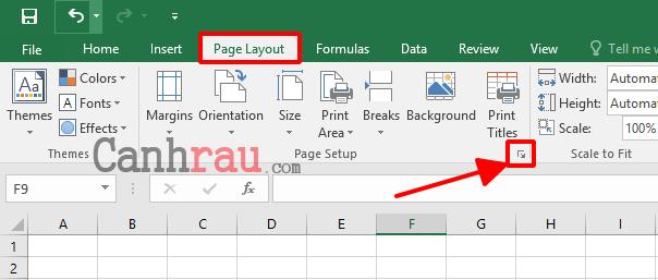 Cách đánh số trang trong Excel hình 5