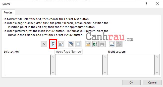Cách đánh số trang trong Excel hình 7