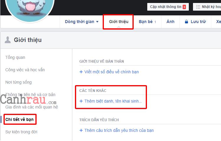 Cách đặt biệt hiệu Facebook bằng máy tính và điện thoại hình 1