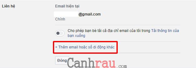 Cách đổi Email đăng nhập trên Facebook hình 3