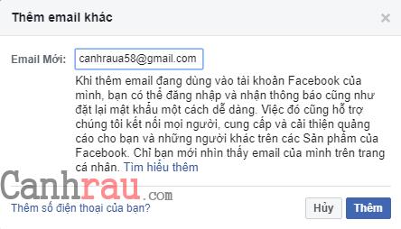 Cách đổi Email đăng nhập trên Facebook hình 4