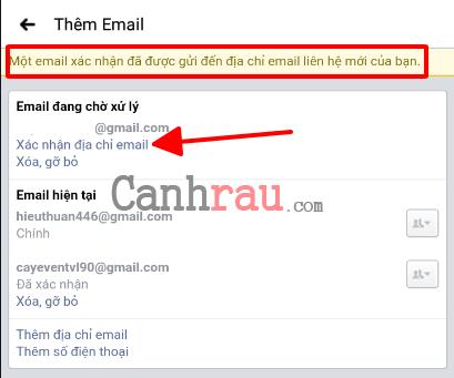 Cách đổi Email đăng nhập trên Facebook hình 8