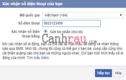 Cách đổi số điện thoại trên Facebook hình 3