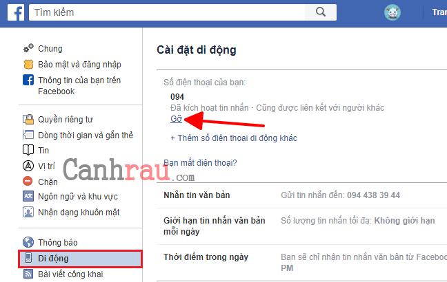 Cách đổi số điện thoại trên Facebook hình 4