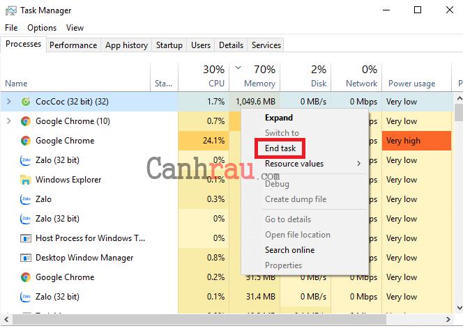 Cách giải phóng RAM cho máy tính Windows hình 4