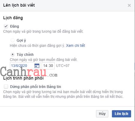 Cách hẹn giờ đăng bài trên Facebook hình 3