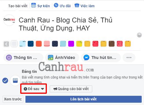 Cách hẹn giờ đăng bài trên Facebook hình 4