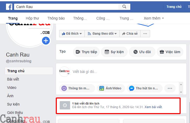 Cách hẹn giờ đăng bài trên Facebook hình 5