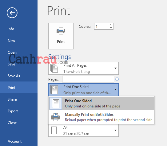 Cách in hai mặt trong Word Excel PDF hình 6