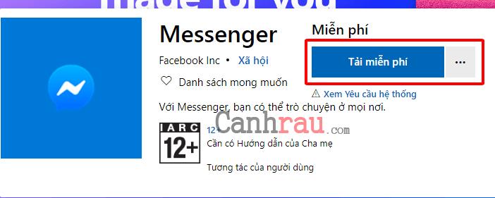 Cách tải messenger trên máy tính Windows 10 hình 1