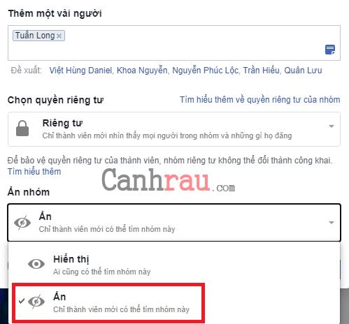 Cách tạo nhóm group trên facebook hình 3