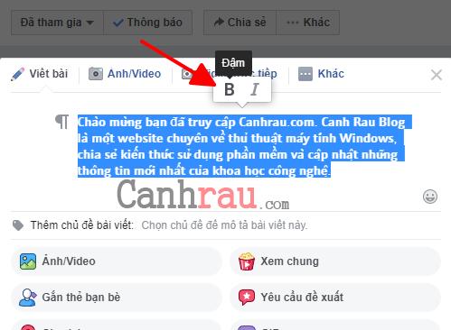 Cách viết chữ in đậm trên Facebook hình Cách viết chữ in đậm trên Facebook hình 15