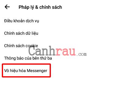 Cách vô hiệu hóa Messenger hình 3