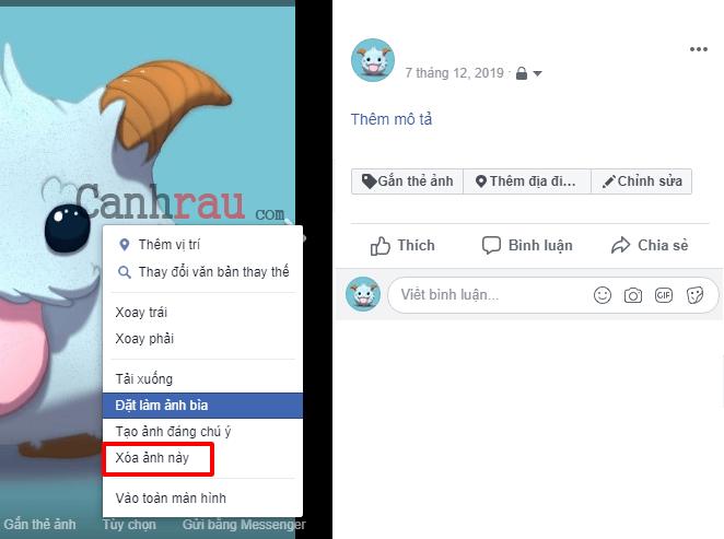 Cách xóa ảnh trên Facebook hình 3