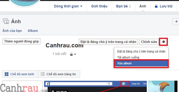 Cách xóa ảnh trên Facebook hình 6